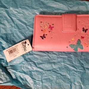 relic Bags - Relic wallet pink with butterflies